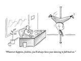 """""""Whatever happens  Jenkins  you'll always have your dancing to fall back on"""" - New Yorker Cartoon"""