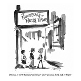 """It would be cool to have your own tower where you could dump stuff on peo…"" - New Yorker Cartoon"