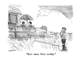 """Scott misses Perot terribly"" - New Yorker Cartoon"