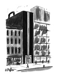 Building in the shape of a briefcase - New Yorker Cartoon