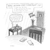 Triple Witching Hour in Apartment 3-K: Title 1 Letter from the folks 2… - New Yorker Cartoon