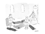 King looking at carpeting - New Yorker Cartoon