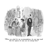 """""""When you asked for my recommendations  sir  you may recall that the rogno…"""" - New Yorker Cartoon"""