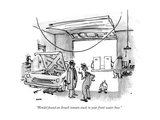 """Wendel found an Israeli tomato stuck in your front water hose"" - New Yorker Cartoon"