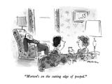 """Morton's on the cutting edge of pooped"" - New Yorker Cartoon"