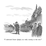 """""""I understand Senator Quigley was really counting on that raise"""" - New Yorker Cartoon"""