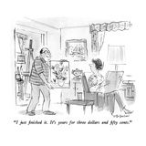"""""""I just finished it  It's yours for three dollars and fifty cents"""" - New Yorker Cartoon"""