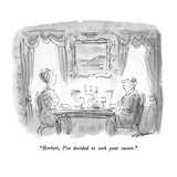 """""""Herbert  I've decided to seek your ouster"""" - New Yorker Cartoon"""