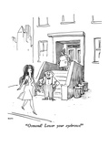 """Osmond!  Lower your eyebrows!"" - New Yorker Cartoon"