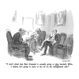 """""""I don't think that Bart Giamatti is actually going to play baseball  Mile…"""" - New Yorker Cartoon"""