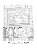 """Not eating your Cheezies  Miller"" - New Yorker Cartoon"