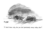 """""""I don't know why  but you look particularly mousy today  dear"""" - New Yorker Cartoon"""