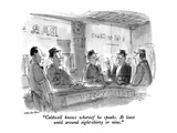 """Caldwell know whereof he speaks  At least until around eight-thirty or n…"" - New Yorker Cartoon"