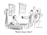 """Detective Grayson  Sleaze"" - New Yorker Cartoon"