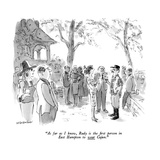 """As far as I know  Rudy is the first person in East Hampton to wear Cajun…"" - New Yorker Cartoon"