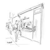 """Smoke shop advertising """"The Poindexter"""" pipe - New Yorker Cartoon"""