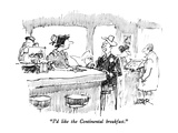 """I'd like the Continental breakfast"" - New Yorker Cartoon"
