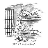 """A T & T wants me back"" - New Yorker Cartoon"