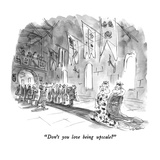 """""""Don't you love being upscale"""" - New Yorker Cartoon"""