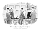 """""""We're too well connected for jail time  but I worry a little about middle…"""" - New Yorker Cartoon"""