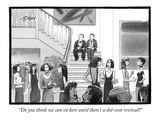 """Do you think we can sit here until there's a dot-com revival"" - New Yorker Cartoon"