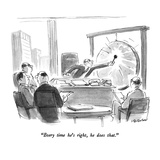 """Every time he's right  he does that"" - New Yorker Cartoon"