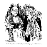 """And will you  Lee  take Mimi for granted as long as you both shall live"" - New Yorker Cartoon"