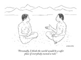"""Personally  I think the world would be a safer place if everybody owned a…"" - New Yorker Cartoon"