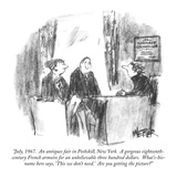 """July  1967  An antiques fair in Peekskill  New York  A gorgeous eightee…"" - New Yorker Cartoon"