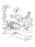 As the Crow Flies Cab Co - New Yorker Cartoon
