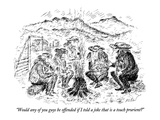 """""""Would any of you guys be offended if I told a joke that is a touch prurie…"""" - New Yorker Cartoon"""
