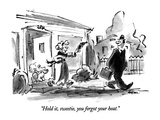 """""""Hold it  sweetie  you forgot your heat"""" - New Yorker Cartoon"""