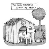Dog Formerly Known as Prince - New Yorker Cartoon