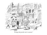 """Perhaps that peculiar odor is autumn"" - New Yorker Cartoon"