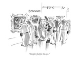 """""""Comfort food for the eyes"""" - New Yorker Cartoon"""