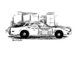 Sign on taxi cab door reads; Useful Information Cab Company  andlists meas… - New Yorker Cartoon