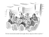 """""""It's been moved and seconded  Cartwright  that we clap if we believe in f…"""" - New Yorker Cartoon"""