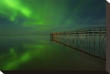 Northern Lights Reflected in Lake Winnipeg IV