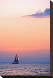 Sunset Pink Sailboat