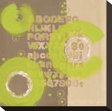 Alphabetical Green Abstract