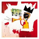 Trumpet 1984 artwork by Jean-Michel Basquiat