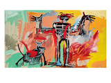 Boy and Dog in a Johnnypump, 1982 Reproduction d'art par Jean-Michel Basquiat