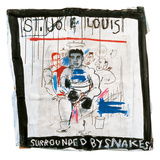 St. Joe Louis Surrounded by Snakes, 1982 Giclée par Jean-Michel Basquiat