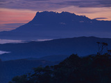 Mount Kinabalu at Dawn  Sabah  Borneo