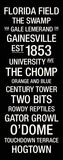 University of Florida: College Town Wall Art