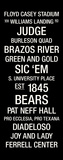 Baylor: College Town Wall Art