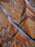 Snow Covered Sandstone (Aerial)  Comb Ridge  Utah