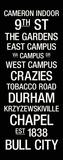 Duke: College Town Wall Art