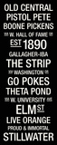 Oklahoma State: College Town Wall Art