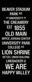Penn State: College Town Wall Art